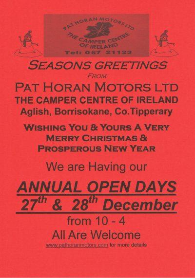 Open Days | Pat Horan Motors